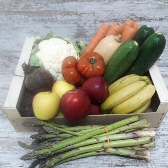 Caja de Fruta y Verdura Ecológica mediana