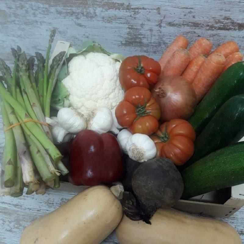Caja de Verduras Ecológicas mediana