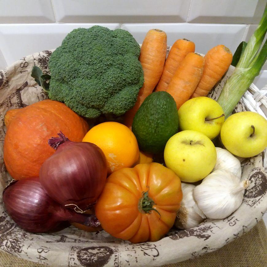 Caja de Fruta y Verdura Ecológica (Pequeña)
