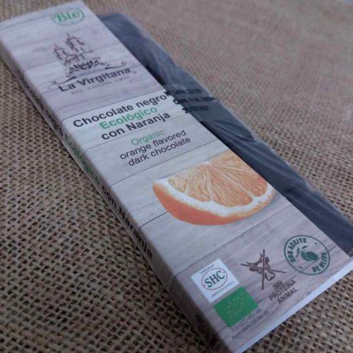 Chocolate Negro Ecológico con Naranja