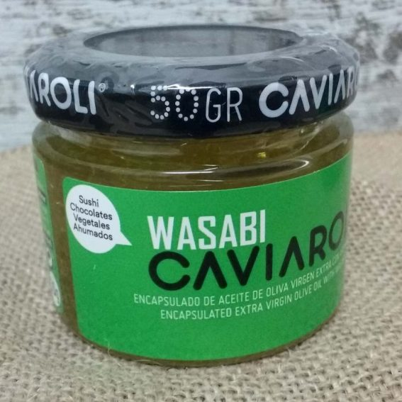 Wasabi Esferas de Aceite de Oliva Caviaroli