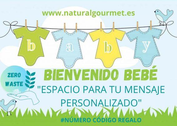 Tarjeta Regalo Bebé 25€ Zero Wastw Natural Gourmet
