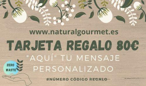 Tarjeta Regalo 80€ Zero Waste Natural Gourmet
