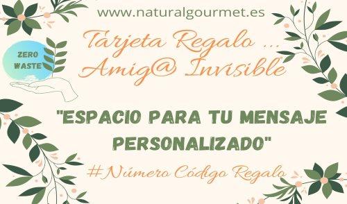 Tarjeta Regalo Amig@ Invisible 20€ Zero Waste Natural Gourmet