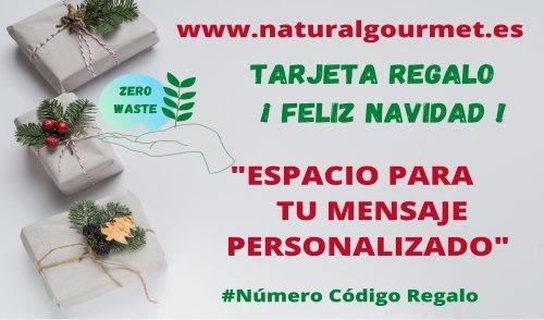 Tarjeta Regalo Feliz Navidad 30€ Zero Waste Natural Gourmet